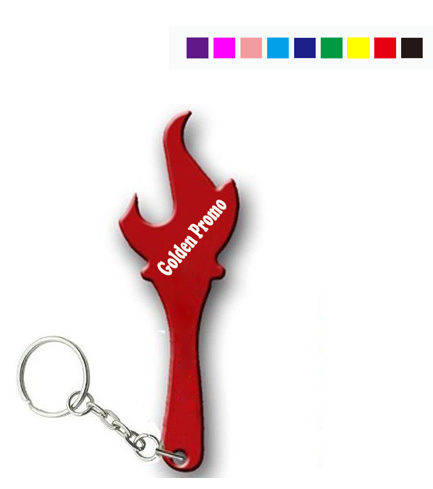 Torch Shape Bottle Opener With Keychain