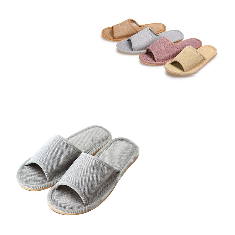 Natural Flax Family Cool Slippers